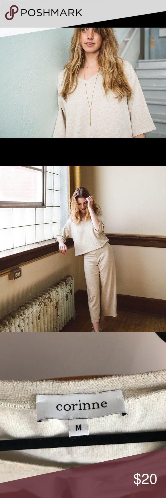 Corinne Harry v-neck cropped sweatshirt top Corinn…