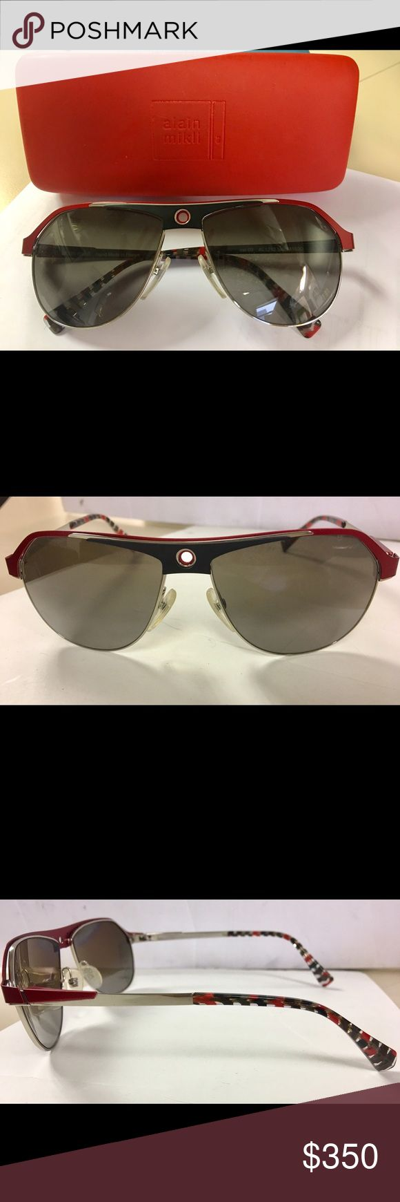 Alain Mikli Sunglasses Modern aviators. Titanium metal frame. Worn 3 times. Comes with original case and lens cloth. alain mikli Other
