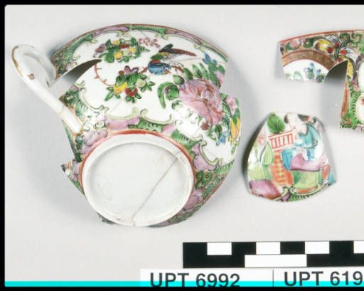 Cup & handle :: Chinese Historical Society of Southern California Collection, ca.1880-1933