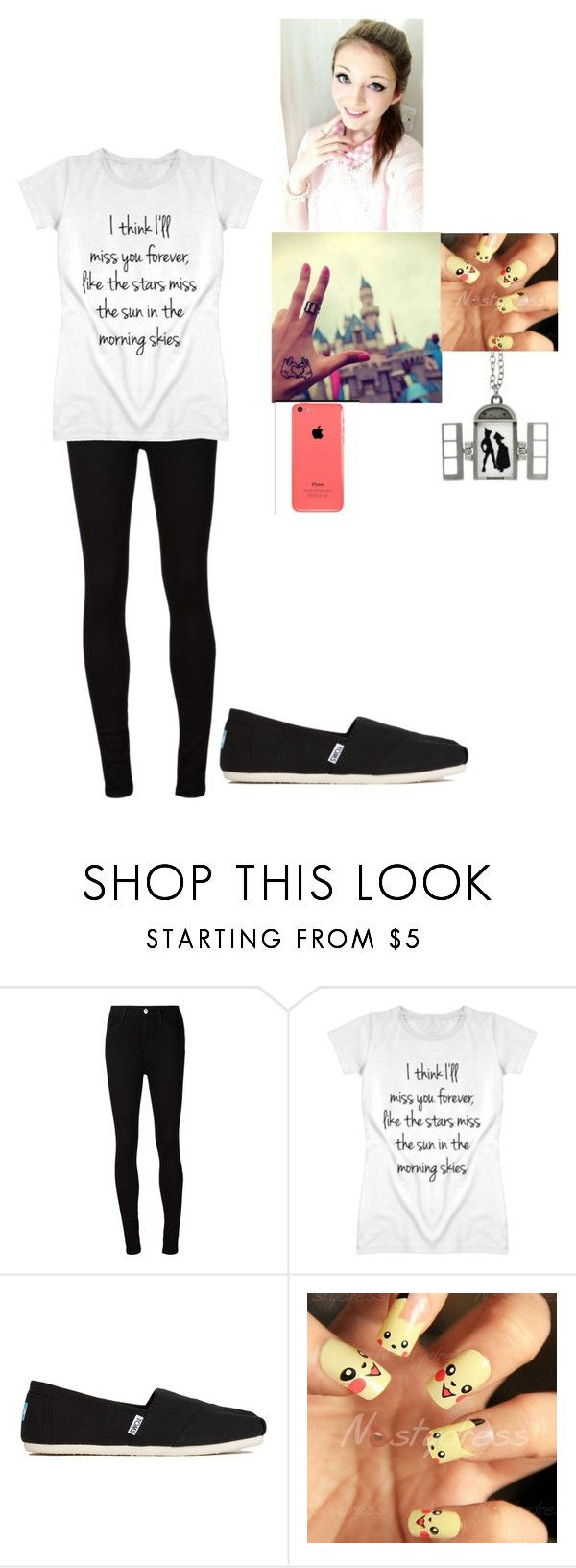 """""""first tattoo"""" by lelegreenwell ❤ liked on Polyvore featuring AG Adriano Goldschmied, Disney and TOMS"""