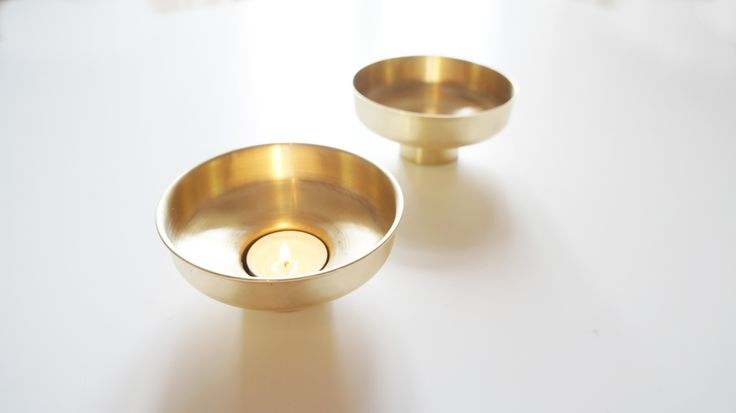 Candle Case in natural treated brass and copper for Svallings.  Eva Lilja Löwenhielm and Anya Sebton.