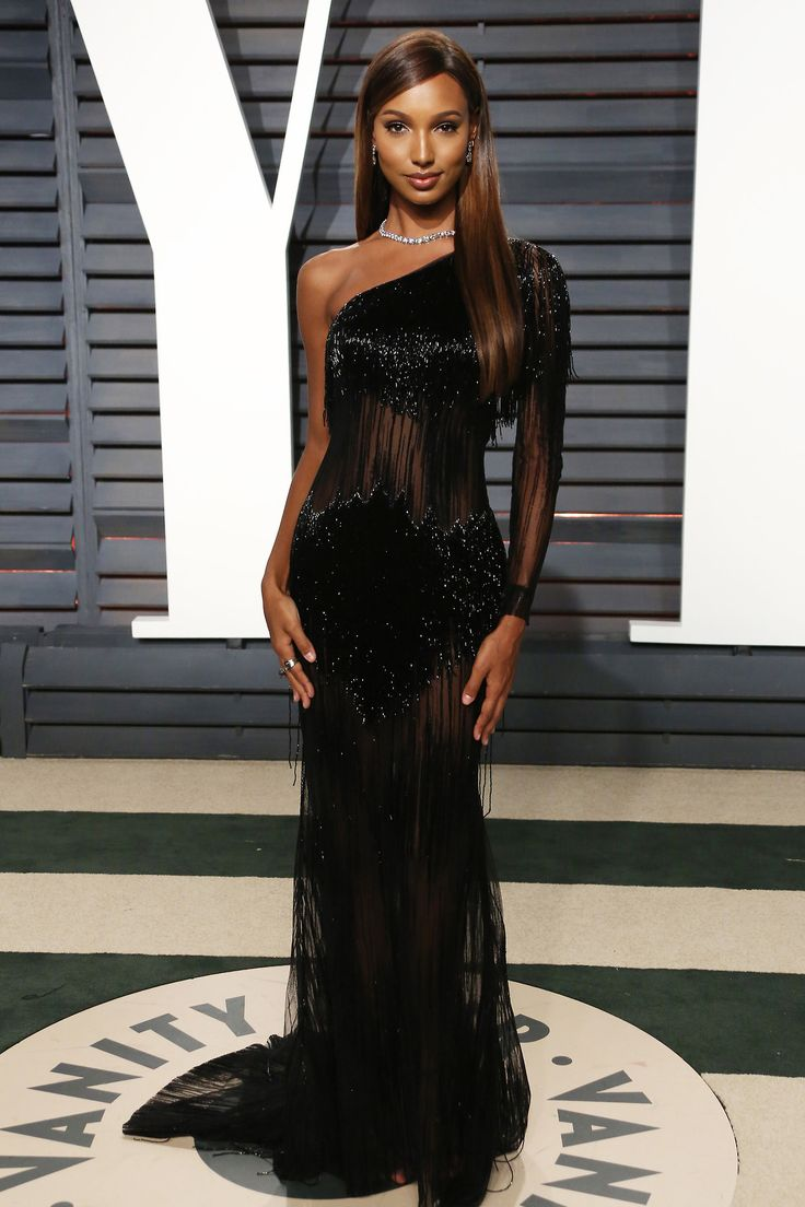 "celebsofcolor: ""Jasmine Tookes attends the 2017 Vanity Fair Oscar Party hosted by Graydon Carter at Wallis Annenberg Center for the Performing Arts on February 26, 2017 in Beverly Hills, California. """
