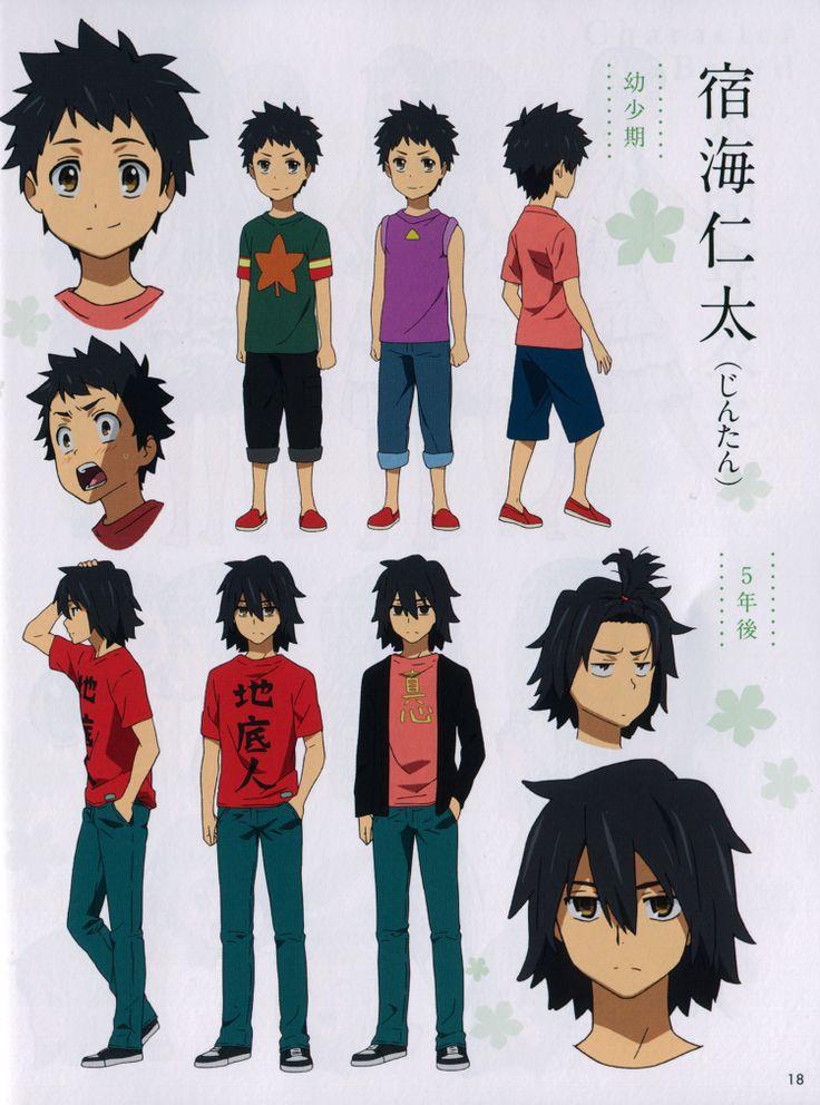 anohana character design | REF: Masayoshi Tanaka | Anohana ...