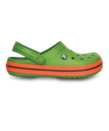 Take a look at this Green & Tangerine Crocband™ - Women & Men by Crocs on #zulily today!