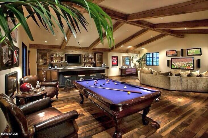 Man Cave Billiard Room : Man cave love the pool table colors billiard rooms