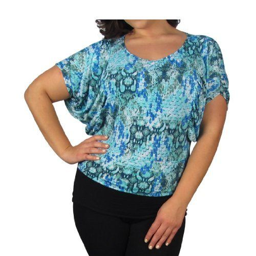 599fashion Plus size round neck butterfly sleeve top-id.22972b 599fashion.  $5.99