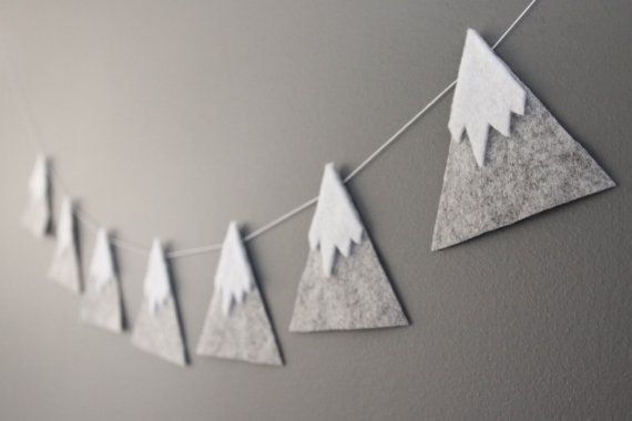 Mountain garland https://www.etsy.com/au/listing/227021208/felt-mountain-snowy-peaks-garland-baby