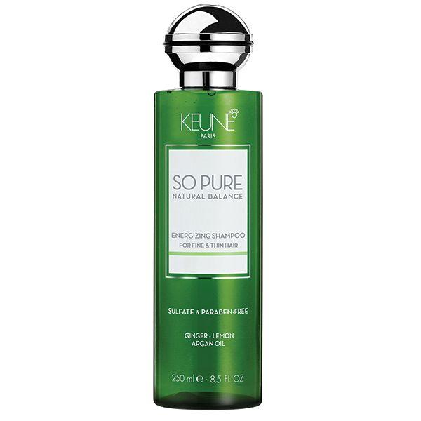 Sampon natural par deteriorat de la Keune So Pure. Energizing Shampoo este un sampon cu continut de ginseng, ulei de argan si biotina. Nu contine parabeni.