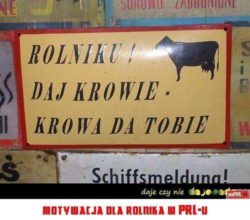 motywacja dla rolnika w PRL-u