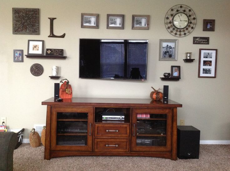 Beautiful Decorating Around A Flat Screen Tv With