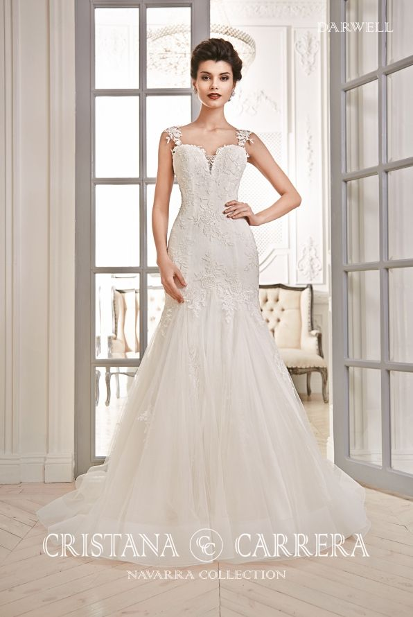 """Wedding Dress """"Darwel"""" Cristana Carrera"""" available in off white color, size 38UK TEL.+27(0) 215564880 http://www.bridalallure.co.za/wedding-dresses/cristana-carrera/darwell"""