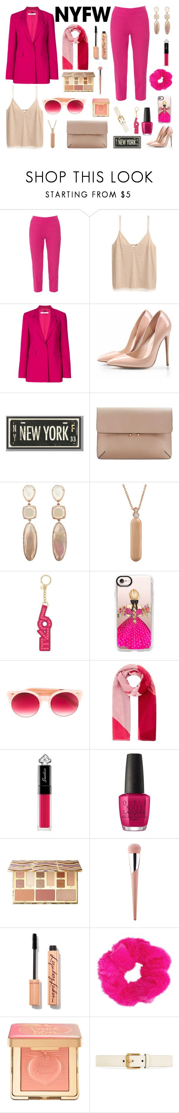"""""""Senza titolo #7096"""" by waikiki24 ❤ liked on Polyvore featuring Piazza Sempione, Givenchy, PBteen, MANGO, My Story, Michael Kors, Casetify, Pared, Accessorize and Guerlain"""