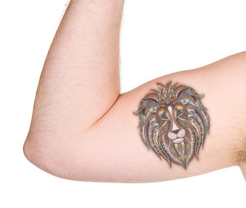 small male arm tattoos lion - Google'da Ara
