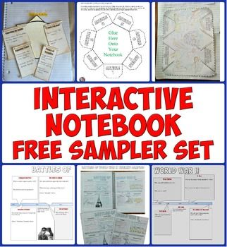 FREE Interactive Notebook Sampler PackHave you thought about incorporating interactive notebooks into your social studies class? Try this free download of 5 sample interactive notebook pages!These interactive notebook pages are ready to print and use in your history classroom today!