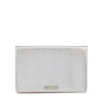 Floozie by Frost French Silver metallic clutch bag- | Debenhams
