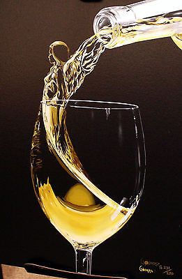 """Michael Godard -"""" Wine Angel """" Limited Edition Canvas Giclee - 17"""" by 22"""""""