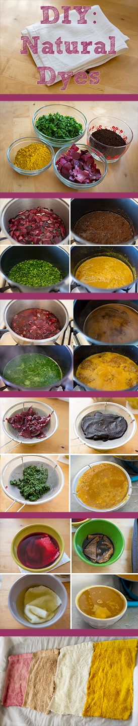 DIY — Natural Dyes Using Vegetables and Other Pantry Staples