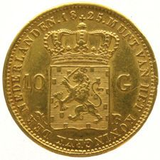 Nederland - 10 Gulden 1825 Brussel Willem I -  goud