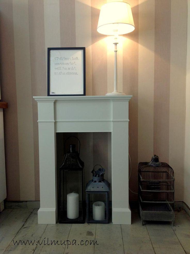 17 mejores ideas sobre chimenea falsa en pinterest - Hacer chimenea decorativa ...