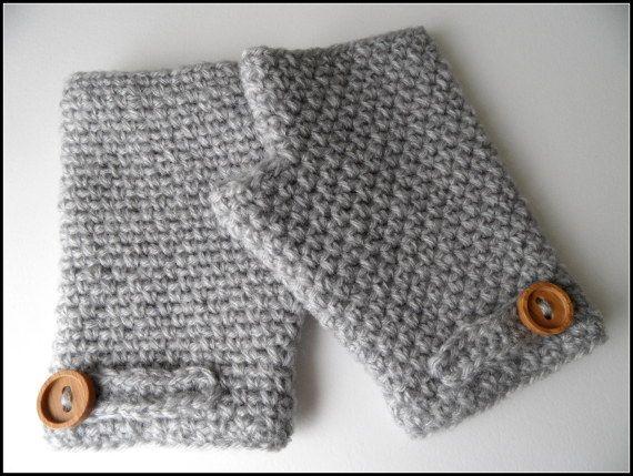 Mitones de lana grises el rinc n de los hilos - Housse de coussin 65 65 ...