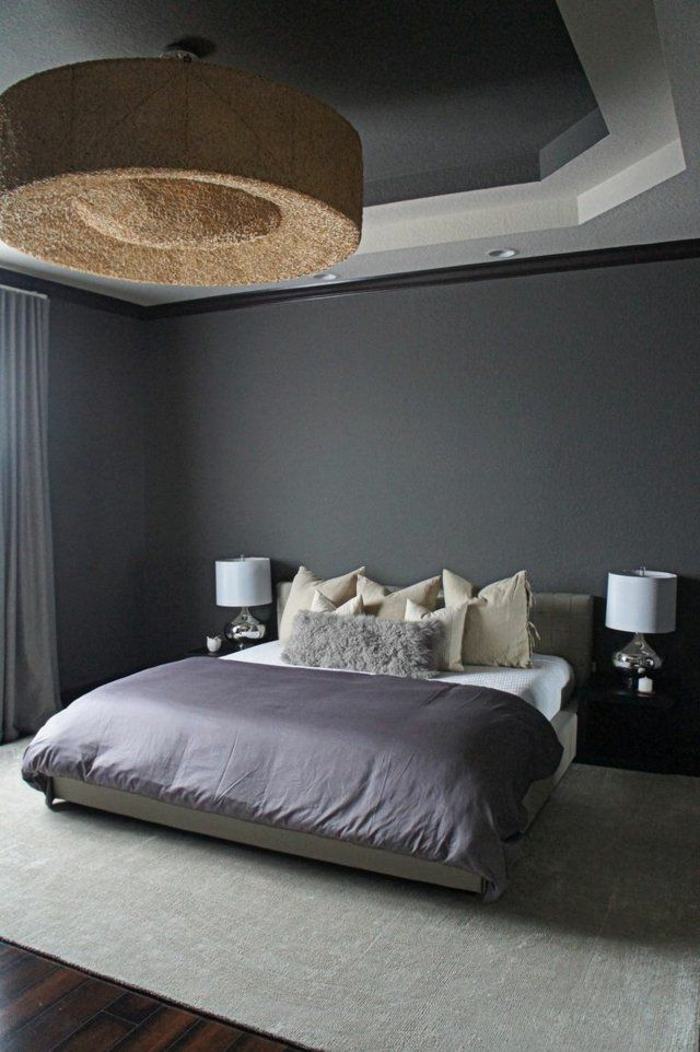les 25 meilleures id es de la cat gorie chambre violet et gris sur pinterest chambres gris. Black Bedroom Furniture Sets. Home Design Ideas