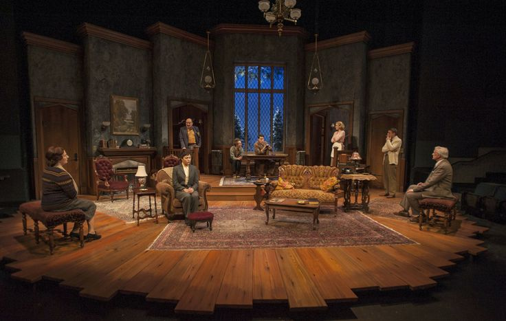 The Mousetrap. Milwaukee Rep. Scenic design by Jack Magaw.