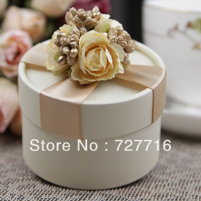 10PCS/LOT PAPER gift box champagne Wedding Favor Boxes party candy box - Free shipping $16.07