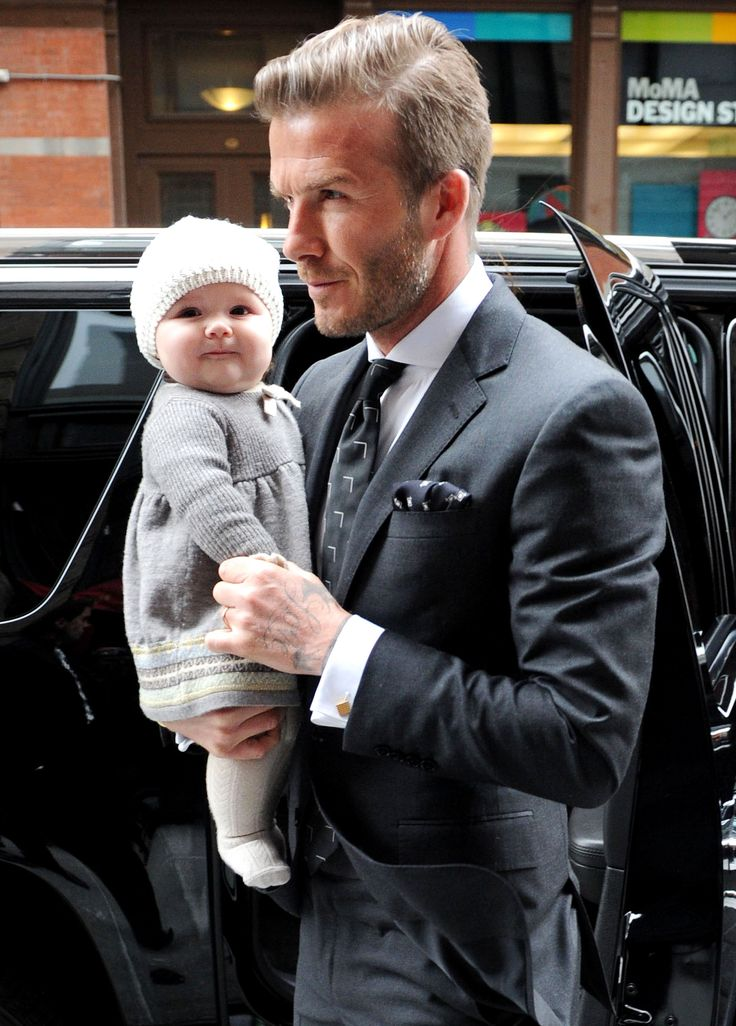 Harper and David Beckham . . . does it get any cuter!?!?
