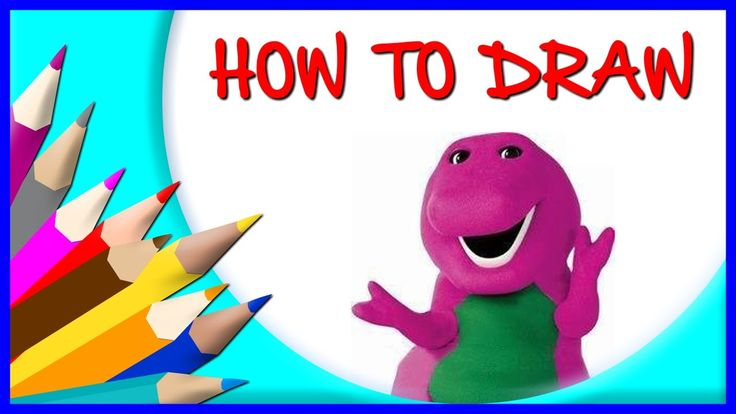 How to Draw Barney | Drawing Time Lapse | 853672 HTD