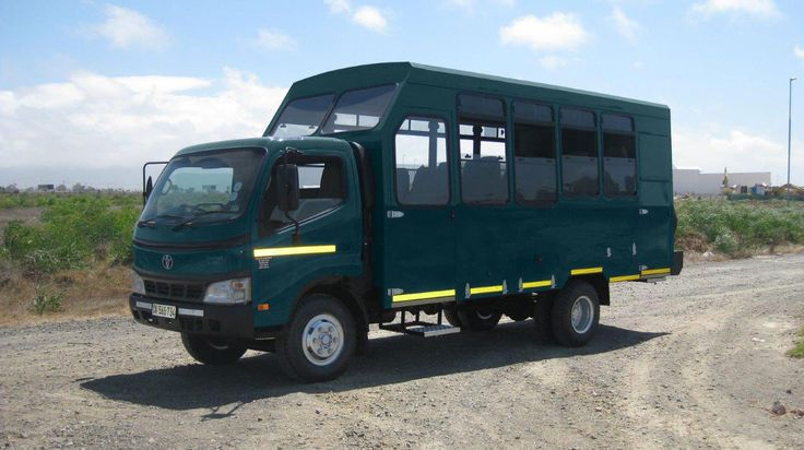 12-seater overland vehicle, fully equipped for camping