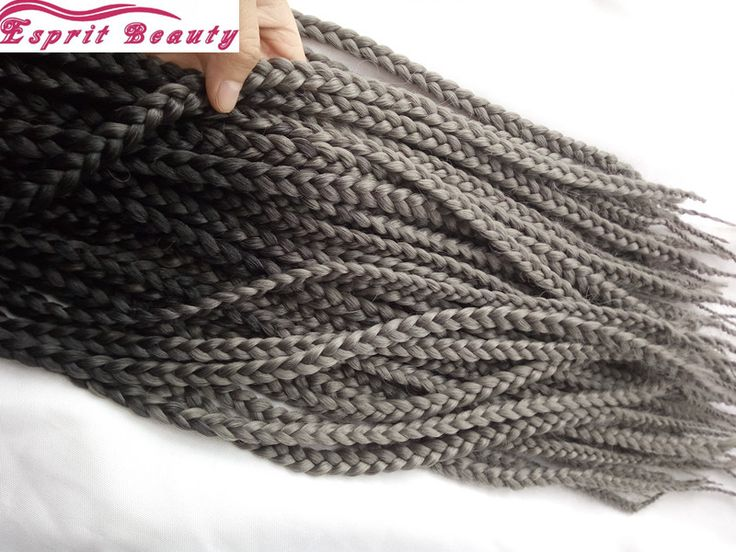 Hot Sale Dark Grey Ombre Box Braiding Hair Extension African Synthetic Box Braid Crochet Hair Freetress 3S Ombre Pre Braid Hair-in Bulk Hair from Beauty & Health on Aliexpress.com | Alibaba Group