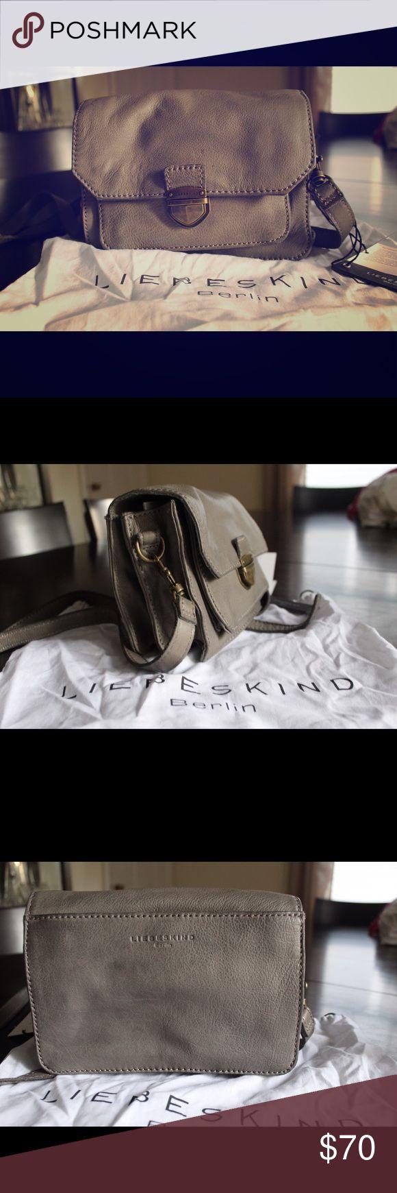 Grey leather cross body bag, liebeskind Berlin Grey leather cross body bag from Liebeskind Berlin, unused and in dust bag Liebeskind Bags Crossbody Bags