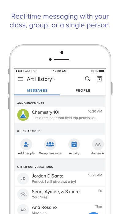 Use an app like Remind to send updates to your students