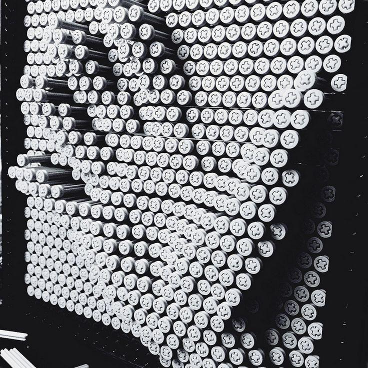 LEGO Technic pieces make great pin art