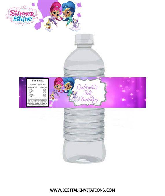 Shimmer and Shine Water Bottle Labels / Shimmer by DigitalWorld1