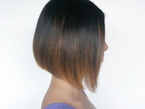 How to cut an A-line bob hairstyle on your self at home! Cut our own hair This Youtube user has a lot of other good hair tutorials as well