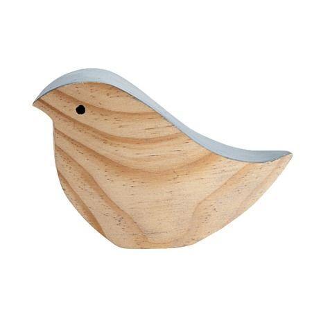 Blanco Wooden Bird Decor 13cm x 4.5cm x 8cm - Giftware - Homewares - The Warehouse