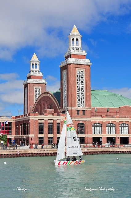 Chicago Navy Pier- can't forget this place. My little Logan got in the children's museum inside this place....