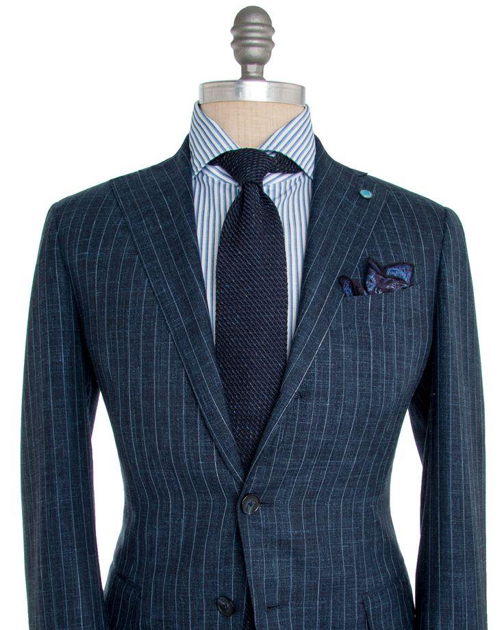 Image of Eidos Napoli Blue Chalk Stripe Suit
