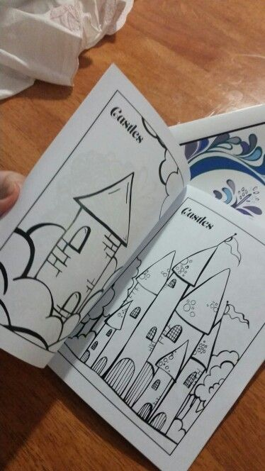 Castles Colouring in pages by Joanna Osborne