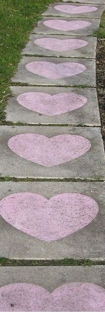 Path to LOVE!  Cute idea to do for Valentine's Day ... no snow, of course!