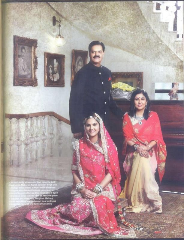 'Maharaja' KANAK VARDHAN_SINGH DEO, 'Maharani' Sangeeta Kumari Devi and Nivritti Kumari Singh Deo