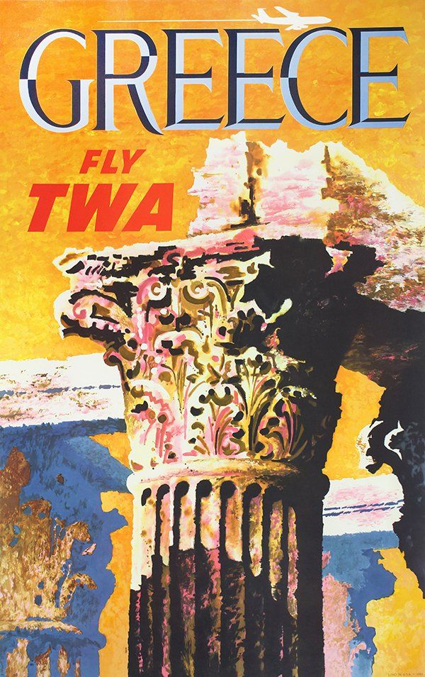 Greece - Fly TWA - 1960's - (David Klein) -