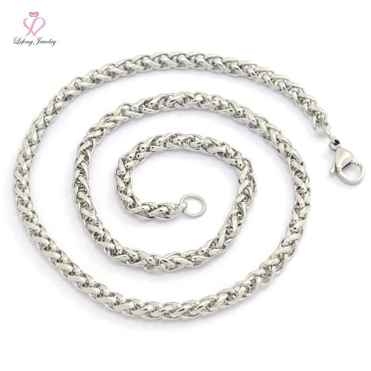 Fashion 4-5mm Custom Length 20-30 Inch Baskets Shape Silver Stainless Steel men chunky Chain Necklaces