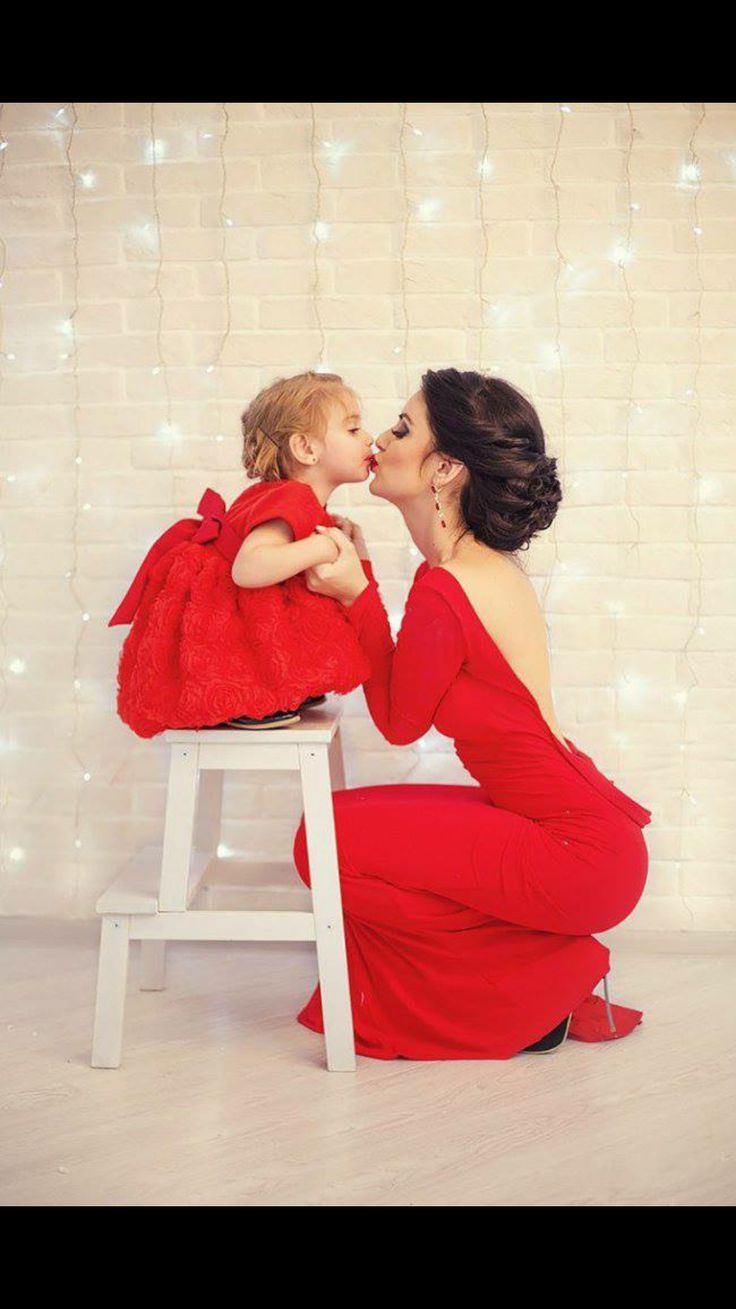 Mommy  & Me all in red