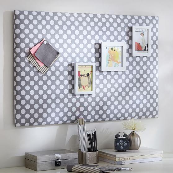 Dot Pin-It Pinboard, Gray