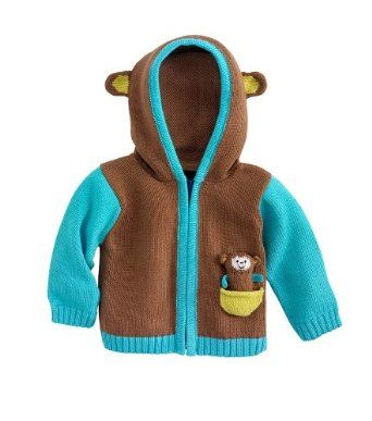 Joobles Organic Baby Cardigan - Mel the Monkey (6-12 Months) Joobles. $59.90