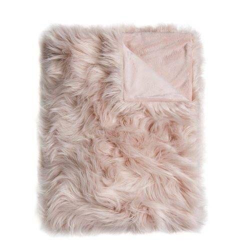Home Republic Alpine Fur Throw, Faux Fur Blanket, Fur