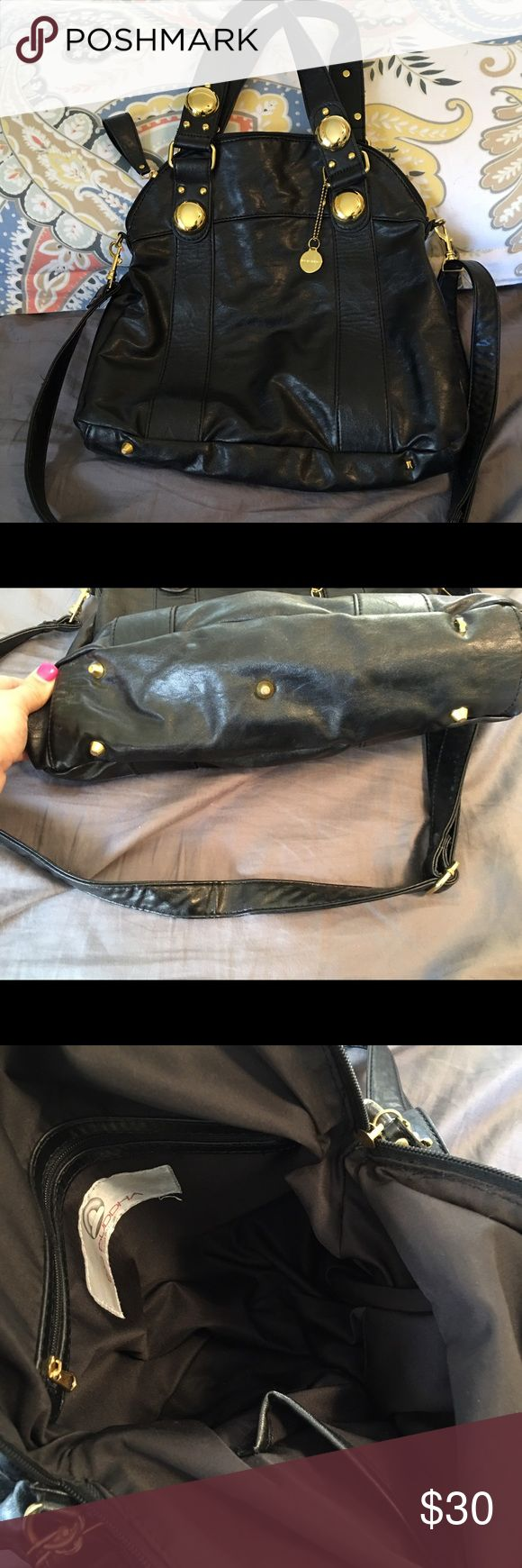 Big Buddha bag Black with gold accents. Long strap comes with it. No flaws! Big Buddha Bags Satchels