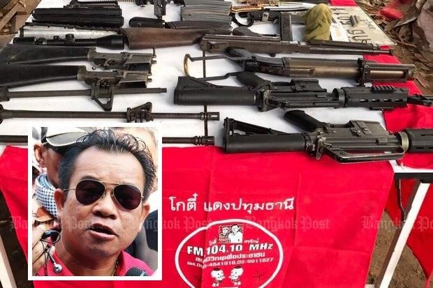 Wuthipong Kochathamakun aka Kotee is a former community radio DJ and is believed to be behind both this arms cache and the supposed plot to kill Prime Minister Prayut Chan-o-cha. (Photo by Apichit Jinakul)